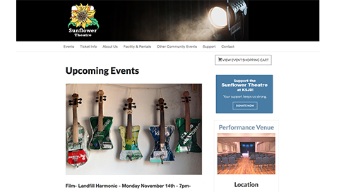 Sunflower Theatre New Website Design Project - Cortez Web Services