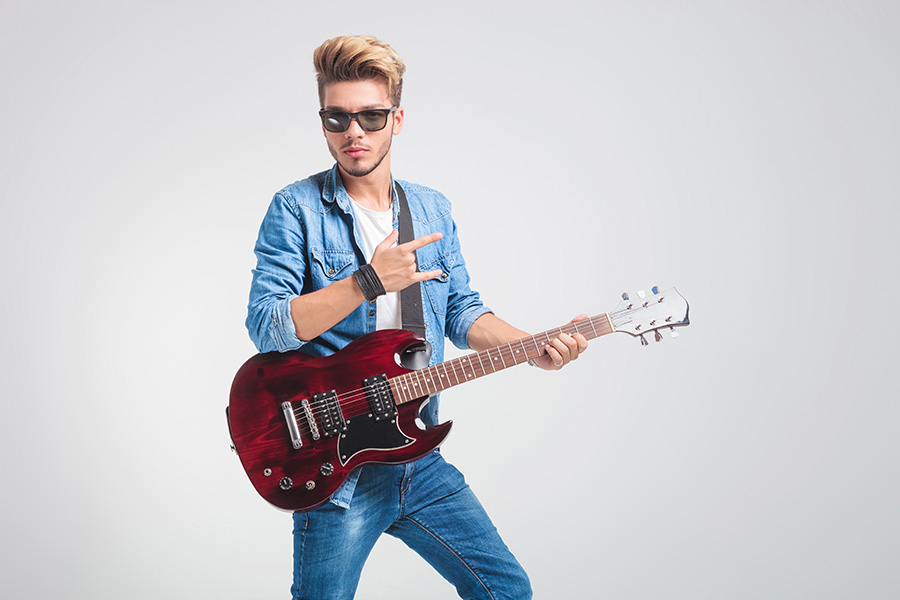 Super cool rock and roll dude