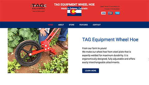 TAG Equipment Wheel Hoe