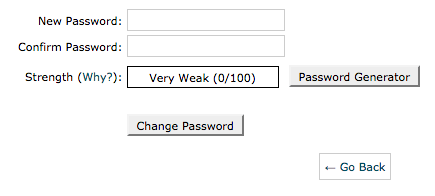 Enter your new webmail password