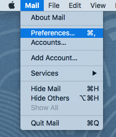 Changing SMTP Server in Apple Mail - Step 1