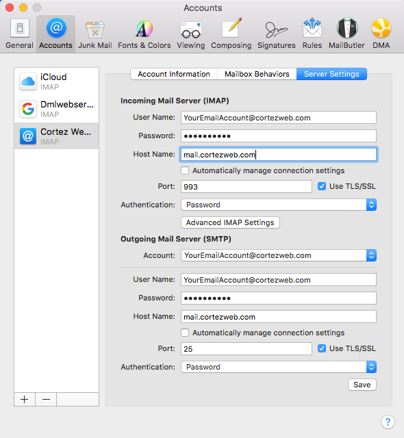 How to Change Your SMTP Server in Apple Mail - Knowledgebase