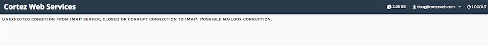 webmail error message
